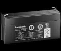 6V/3.4Ah Panasonic 6-9 års Blybatteri Faston 187