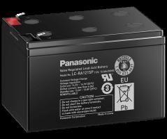 12V/15Ah Panasonic 6-9 års Blybatteri Faston 187