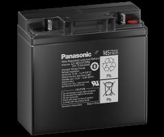 12V/17Ah Panasonic 10-12 års backup Blybatteri M5