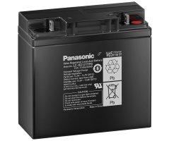 12V/17Ah Panasonic back-up Blybatteri 10-12 års M5