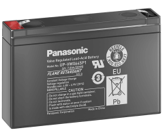 6V/7,8Ah Panasonic Blybatteri UP-VW0645P