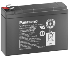 12V/4Ah Panasonic Blybatteri 6-9år UP-VW1220P1