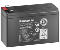 12V/6,6Ah Panasonic Blybatteri 6-9år UP-VW1236P1