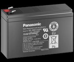 12V/6,4Ah Panasonic 6-9 års Blybatteri 187/250