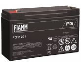 6V/12Ah FIAMM 5 års Blybatteri FG11201