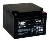 12V/27Ah FIAMM Cyclic Blybatteri FGC22705