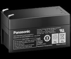 12V/1.3Ah Panasonic 6-9 års Blybatteri Faston 187