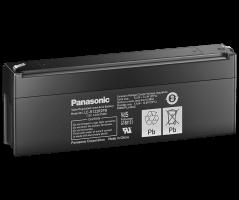 12V/2.2Ah Panasonic 6-9 års Blybatteri Faston 187