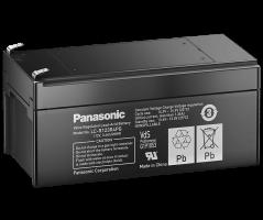 12V/3.4Ah Panasonic 6-9 års Blybatteri Faston 187