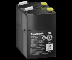 12V/4.5Ah Panasonic 6-9 års Blybatteri Faston 187