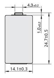 Tekcell Lithium 1/2AA batteri SB-AA02P