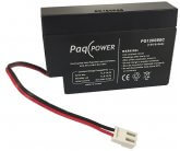 12V/0.8Ah PaqPOWER Blybatteri JST kabelstik