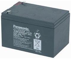12V/12Ah Panasonic 10-12 års Blybatteri Faston 187