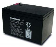 12V/15Ah Panasonic 6-9 års Blybatteri Faston 250