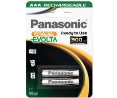 AAA/P03E Panasonic Evolta genopladelig 900mAh