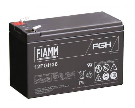 12V/9Ah FIAMM 5 års Højstrøm Blybatteri 12FGH36