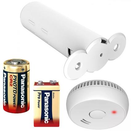Batteri til låsesystemer og røgalarm