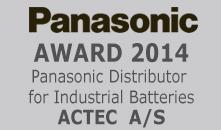 ACTEC A/S modtager Panasonic Award