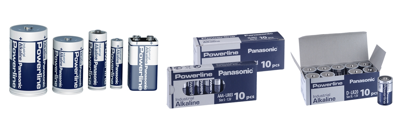 Panasonic Alkaline Powerline batterier