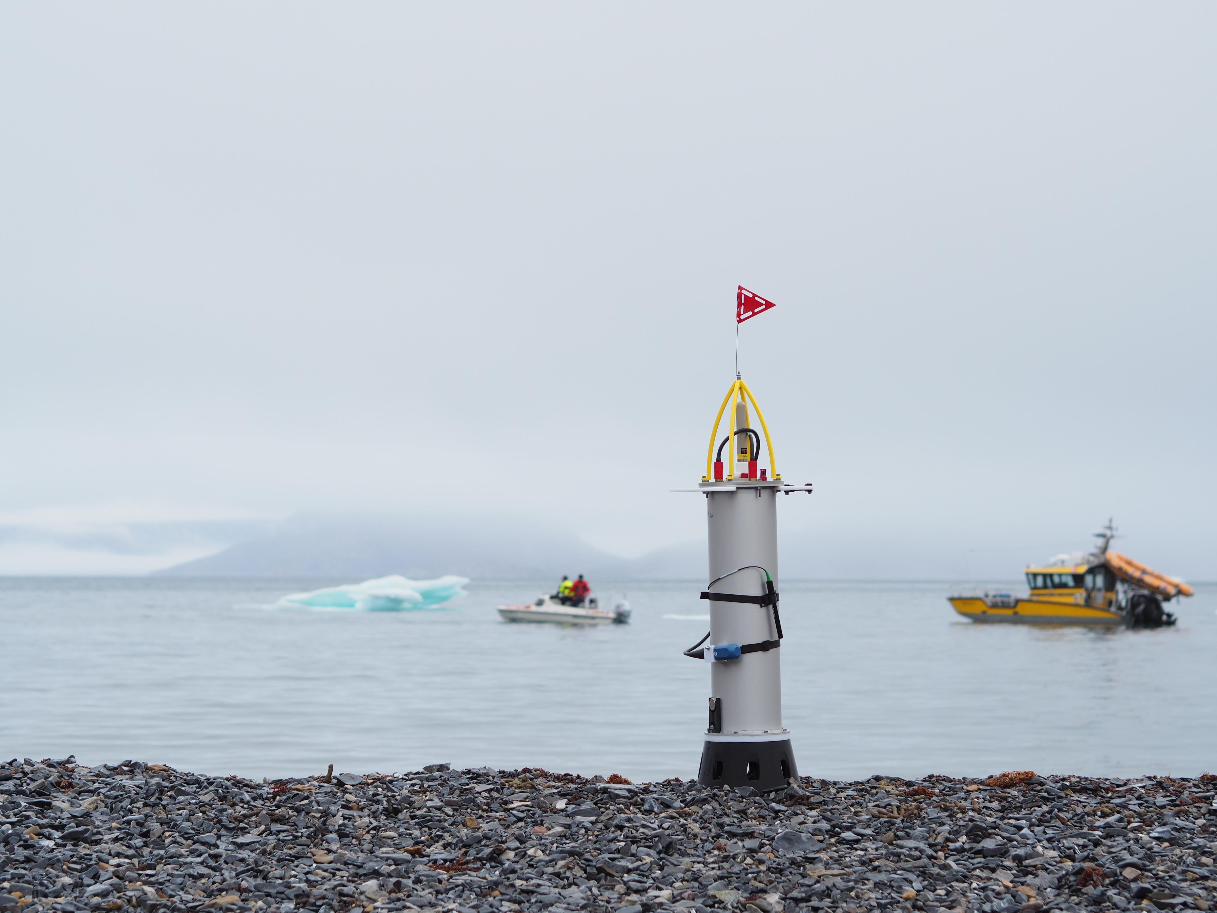 Batteripakke i måleinstrument bruges under frysepunktet og i 300 meters dybde