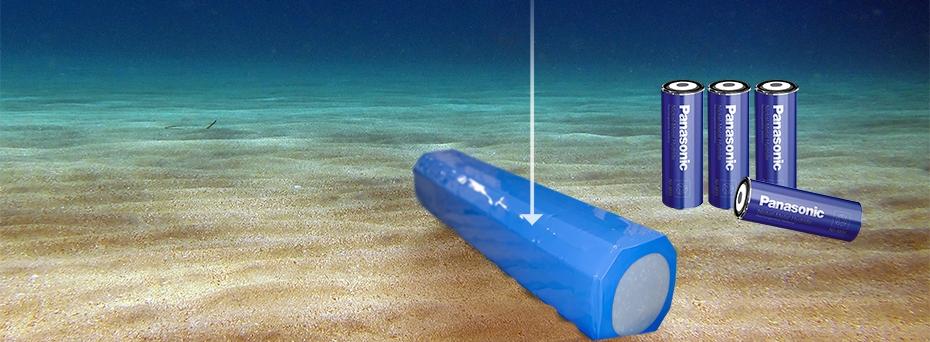 Batteripakke i 6000 meters dybde
