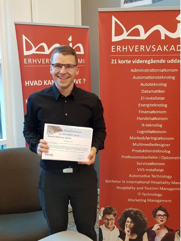 Tillykke til Rasmus for veloverstået eksamen