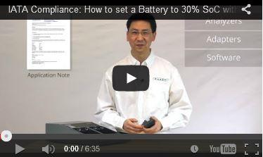Sådan indstilles et batteri til 30% SoC med Cadex C7X00 Analyzer