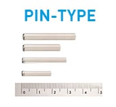 Pin type batterier