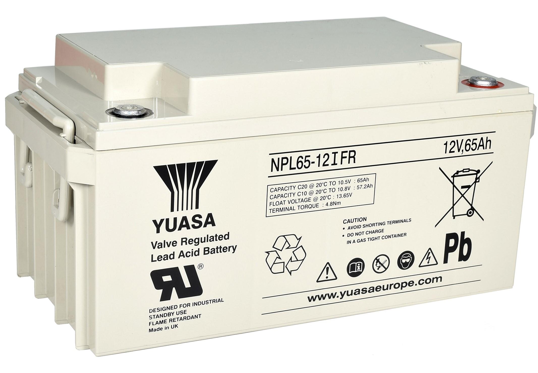 12V/65Ah Yuasa Blybatteri NPL65-12I