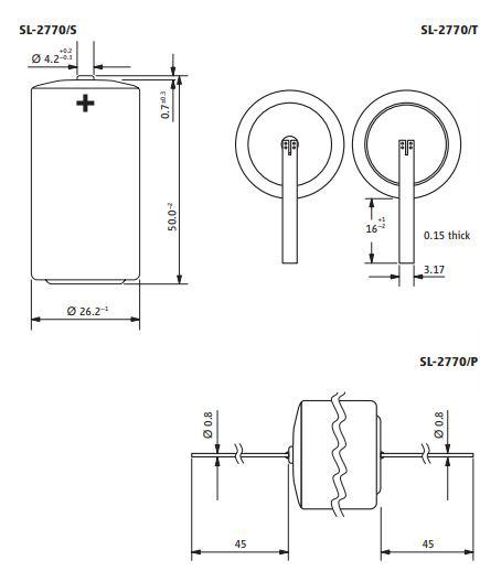 SL-2770 Tadiran batteri