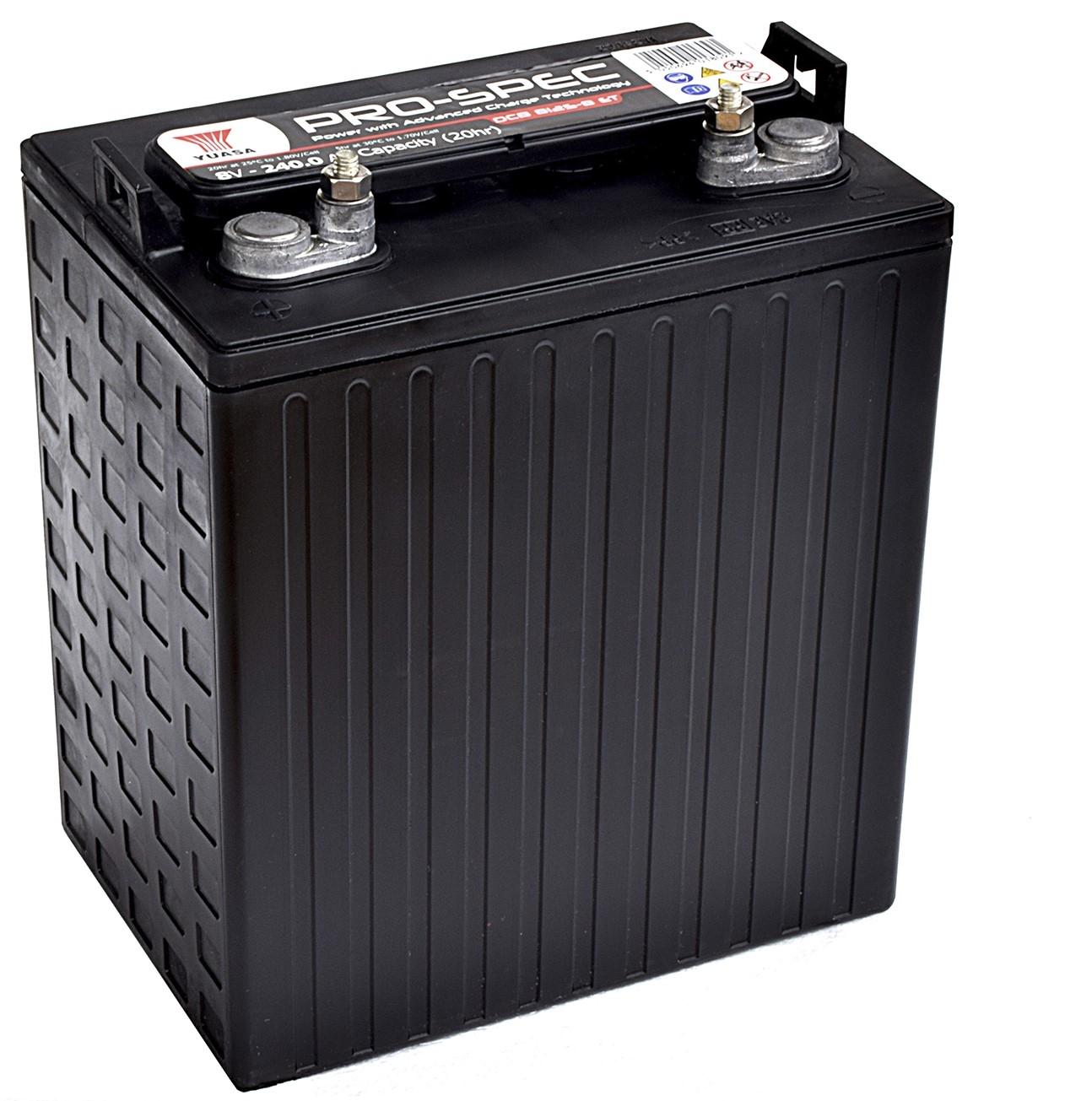 6V/240Ah Yuasa Blybatteri DCB125-6(DT)