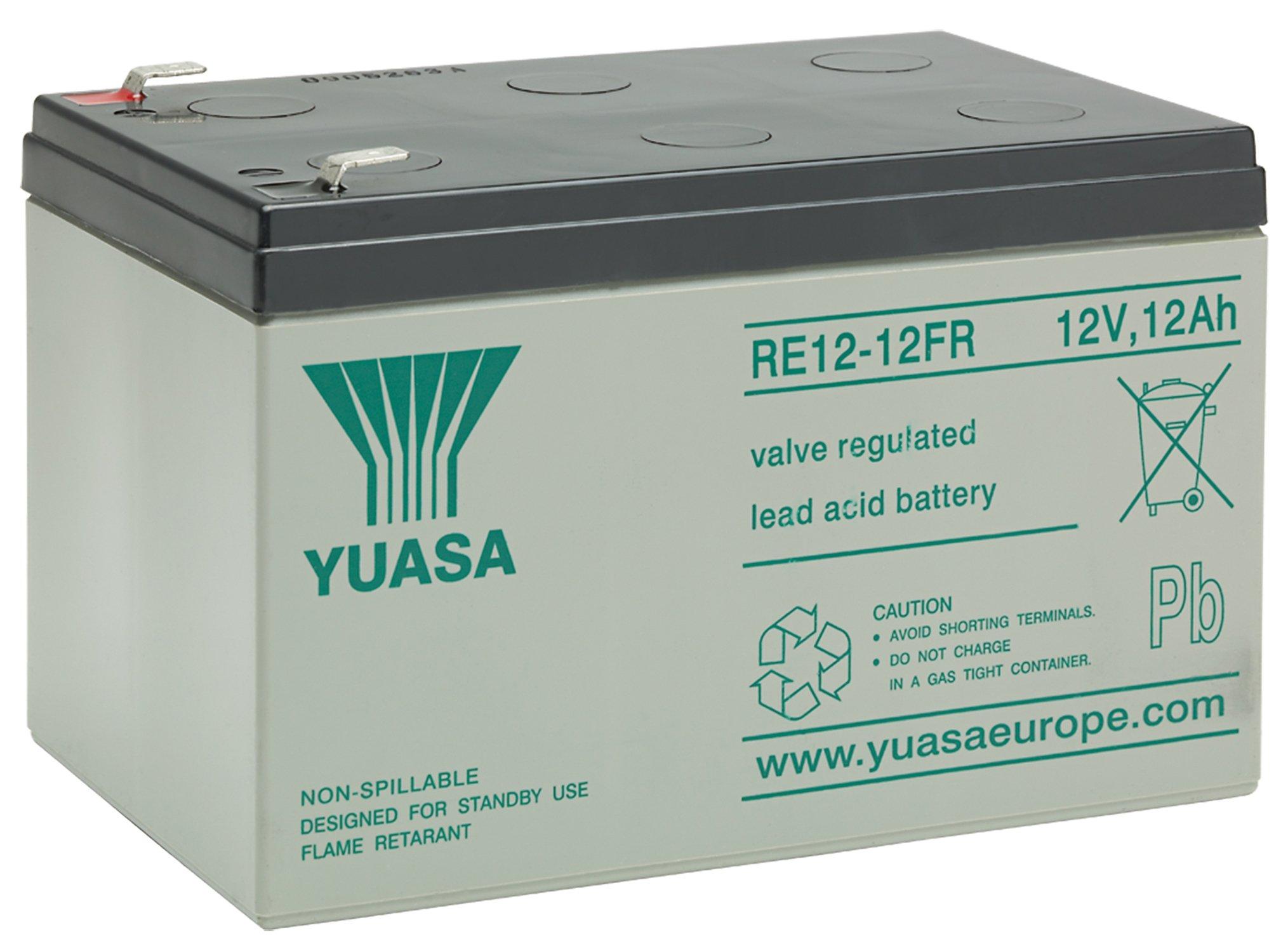 12V/12Ah Yuasa Blybatteri RE12-12