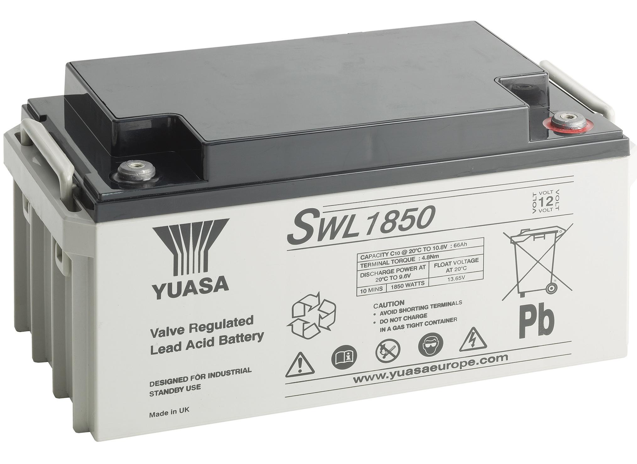 12V/25Ah Yuasa Blybatteri SWL750FR