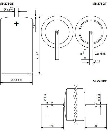 SL-2780 Tadiran lithium batteri