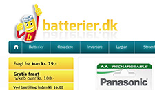 batterier.dk Internetbutik for private