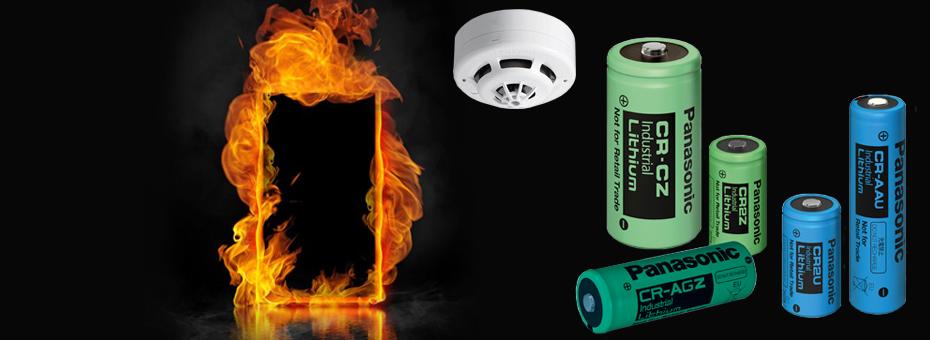 Batterier til røgdetektorer, branddørssystemer, nødalarmssystemer og gassensorer